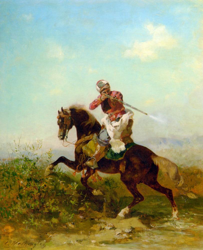 An Arab Warrior :: Gan Arab Warrior - History painting ôîòî