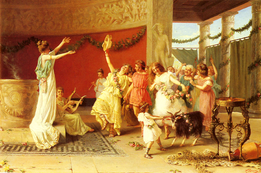 A Roman Dance :: Guglielmo Zoochi - Antique world scenes ôîòî
