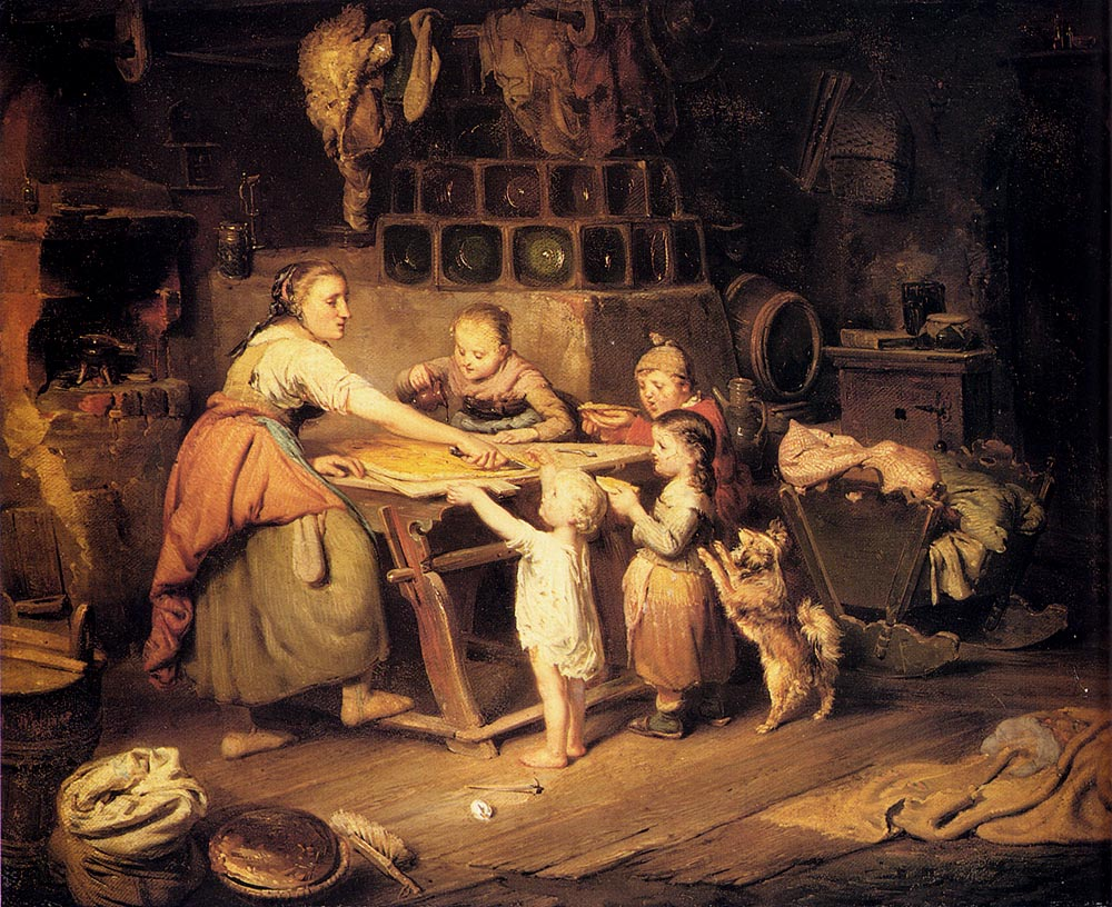A Treat For The Children :: Hermann Werner - Woman and child in painting and art ôîòî