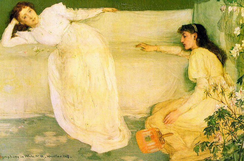 Symphony in White no.3 :: James Abbott McNeill Whistler - Young beauties portraits in art and painting ôîòî