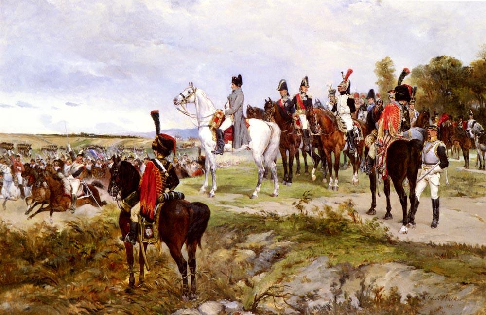Napoleon Watching The Battle Of Friedland, 1807 :: James Alexander Walker - History painting ôîòî