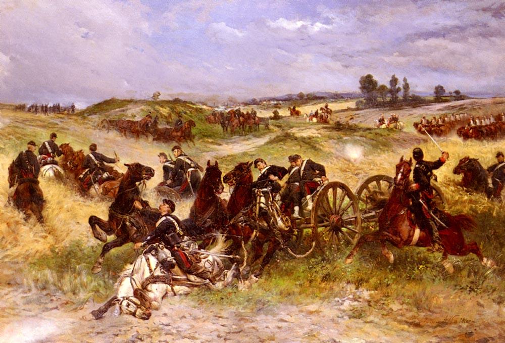 The Fray Of Battle :: James Alexander Walker - History painting ôîòî