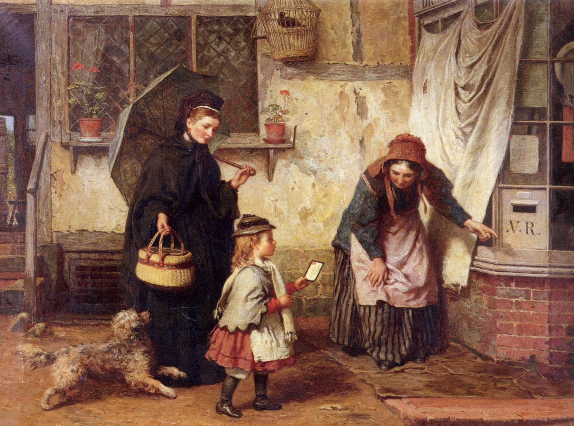 The Widow's Consolation :: James Clarke Waite - Street and market genre scenes ôîòî