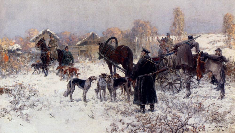 The Hunting Party :: Jaroslav Fr.Julius Vesin - Hunting scenes ôîòî