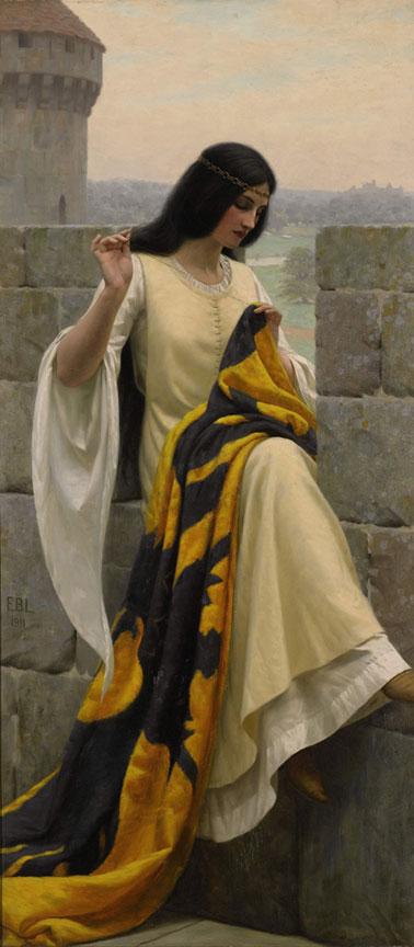 Stitching the Standard :: Edmund Blair Leighton - Antique beauties in art and painting ôîòî