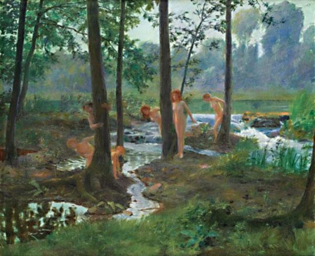 Bathers :: Gaston Bussiere - Nu in art and painting ôîòî
