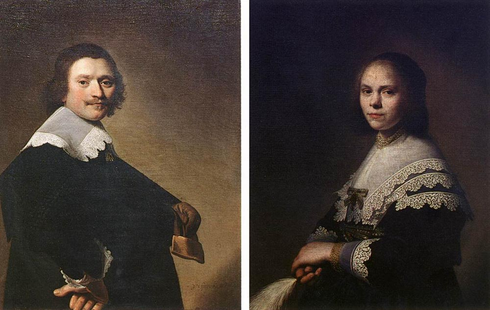 Portrait of a Man and Portrait of a Woman :: Johannes Cornelisz. Verspronck - man and woman ôîòî