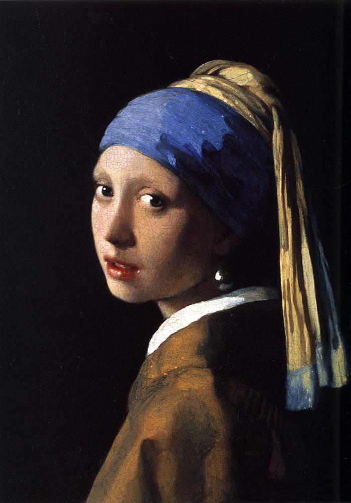 Girl with a pearl earring :: Johannes Vermeer - 3 women portraits 17th century hall ôîòî