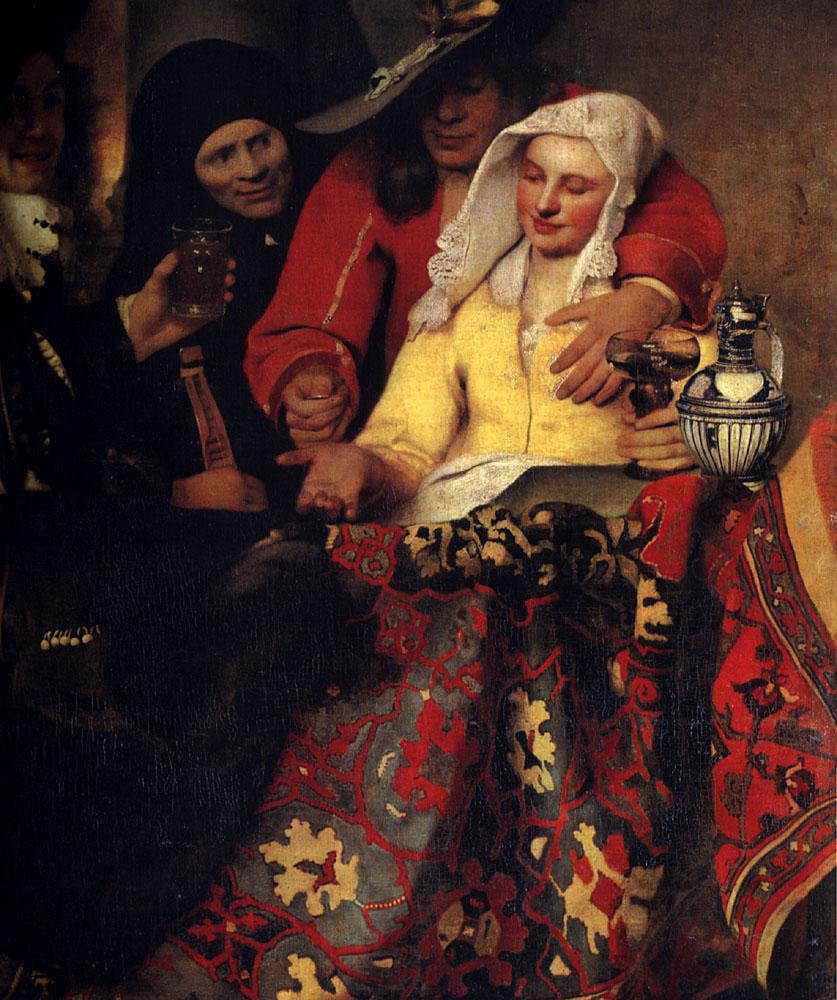 The Procuress :: Johannes Vermeer - 3 women portraits 17th century hall ôîòî