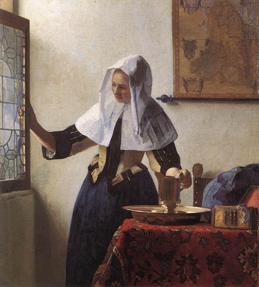 Young Woman with a Water Jug :: Johannes Vermeer - 3 women portraits 17th century hall ôîòî