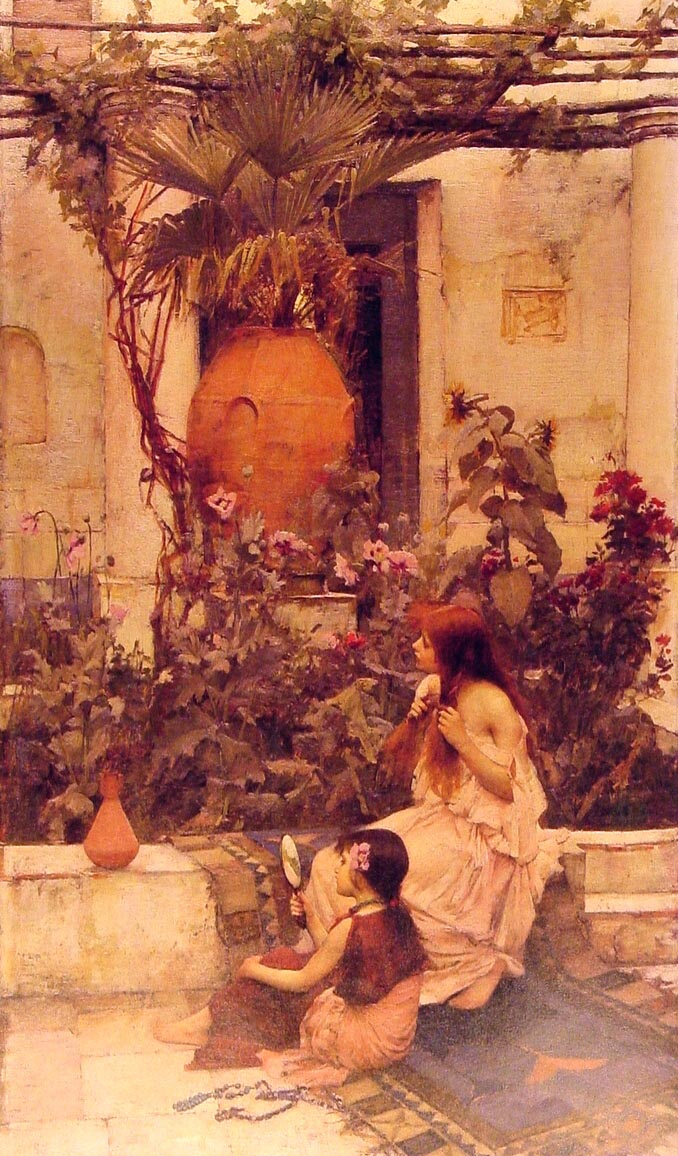 At Capri :: John William Waterhouse - Antique world scenes ôîòî