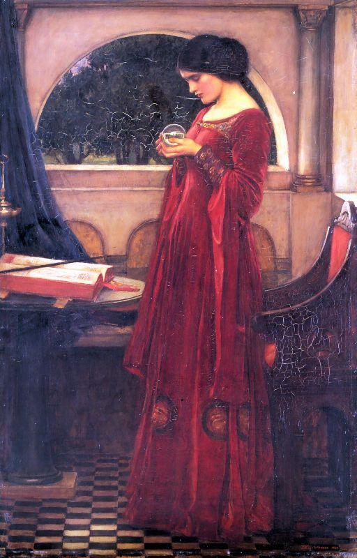 Crystal Ball :: John William Waterhouse - Antique beauties in art and painting ôîòî