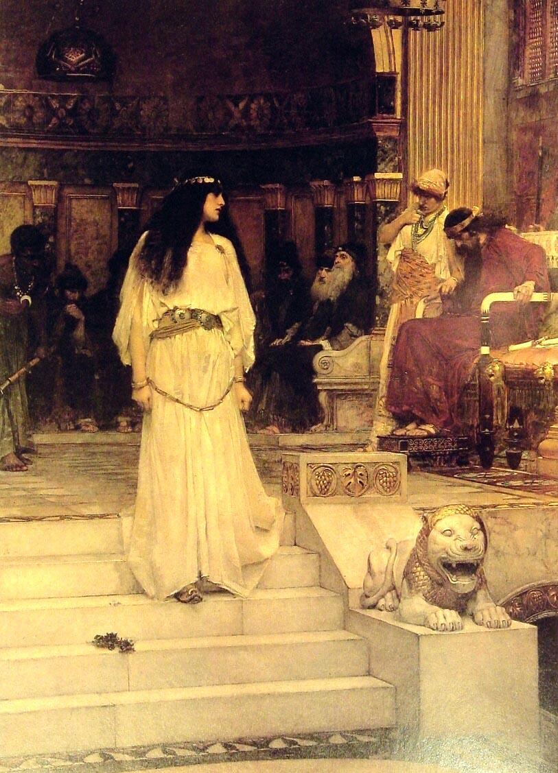 Mariamne Leaving the Judgement Seat of Herod :: John William Waterhouse - Antique world scenes ôîòî