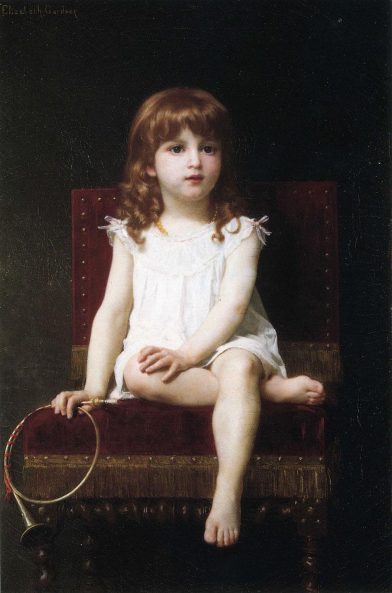 Portrait of Rudyard Kipling's Daughter :: Elizabeth Jane Gardner Bouguereau - Portraits of young girls in art and painting ôîòî