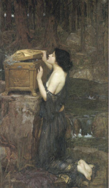 Pandora :: John William Waterhouse - mythology and poetry ôîòî