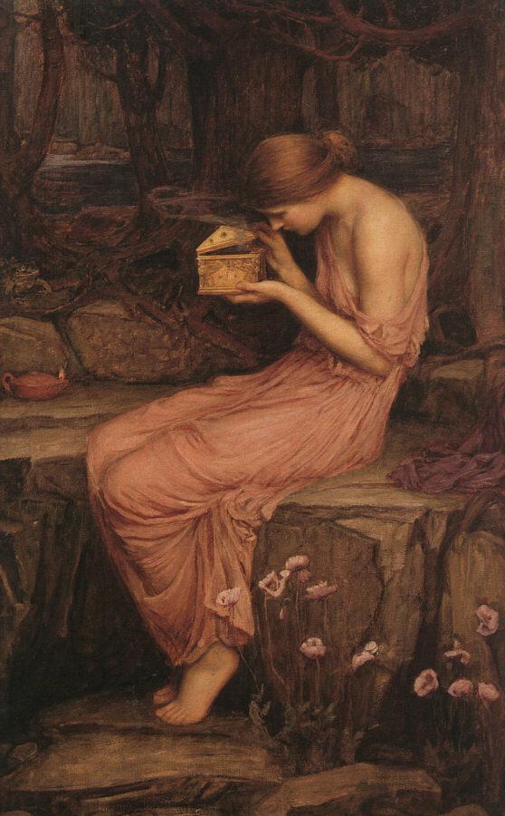 Psyche Opening the Golden Box :: John William Waterhouse - mythology and poetry ôîòî