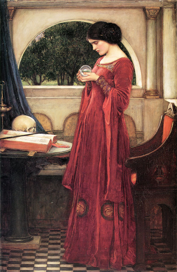 The Crystal Ball (Restored Version) :: John William Waterhouse - Allegory in art and painting ôîòî