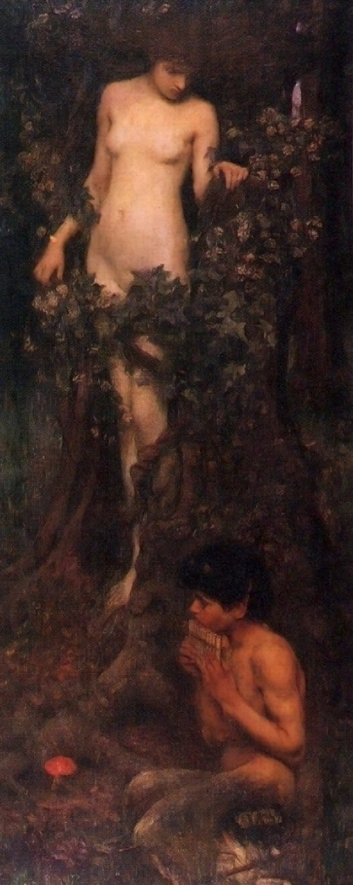 The Hamadryad :: John William Waterhouse - nu art in mythology painting ôîòî