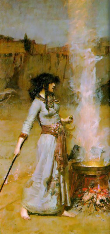 The Magic Circle :: John William Waterhouse - mythology and poetry ôîòî