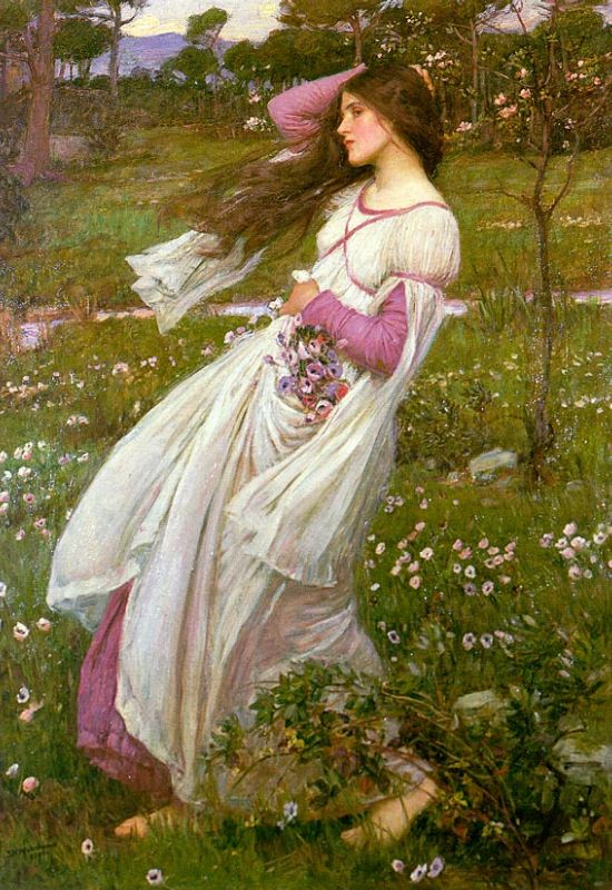 Windswept :: John William Waterhouse - Young beauties portraits in art and painting ôîòî