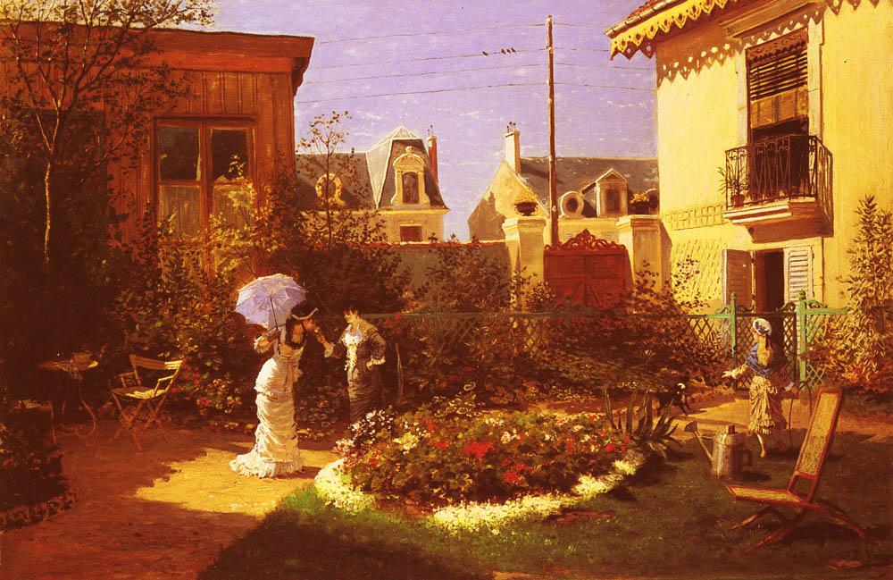 Girls in the garden :: Leon Joseph Voirin - Picnic ôîòî
