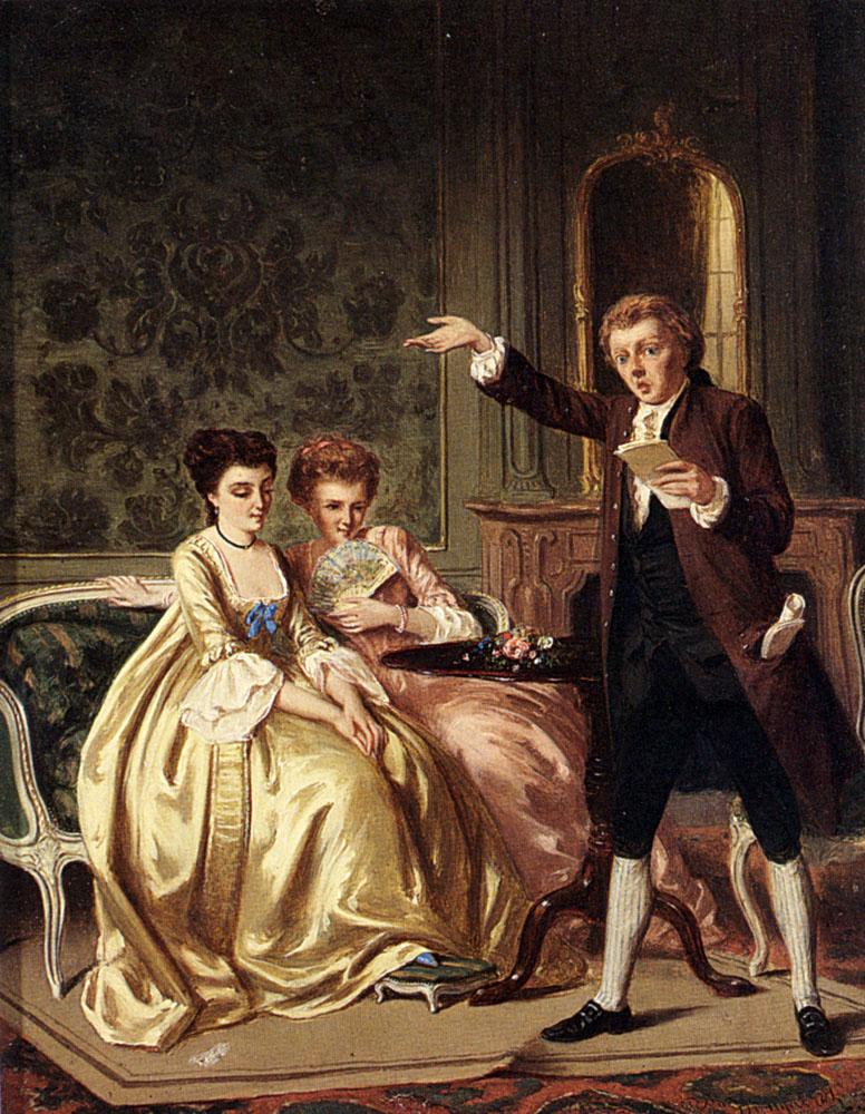 The Young Poet :: Petrus Theodorus Van Wyngaerdt - Romantic scenes in art and painting ôîòî