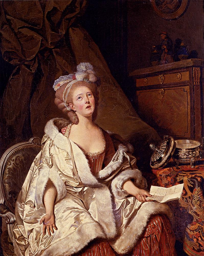 Portrait Of A Woman Reading A Letter :: Pierre-Alexandre Wille - 4 women's portraits 18th century hall ôîòî