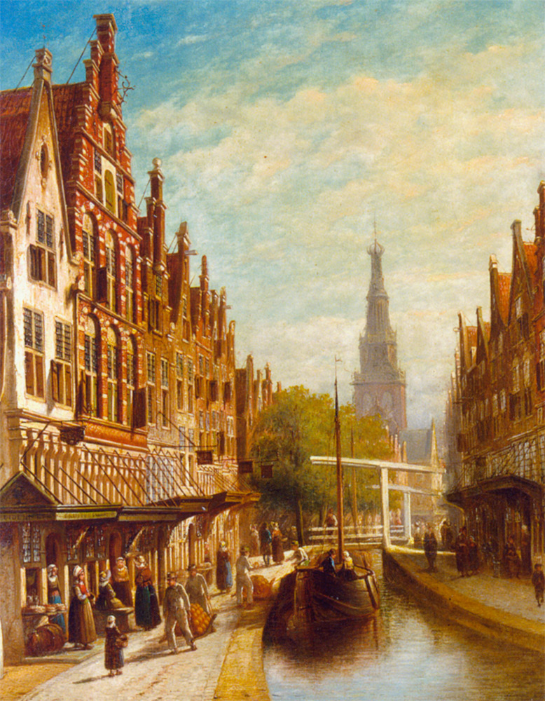 A View of Alkmaar :: Pieter Gerard Vertin - Holland and Dutch ôîòî