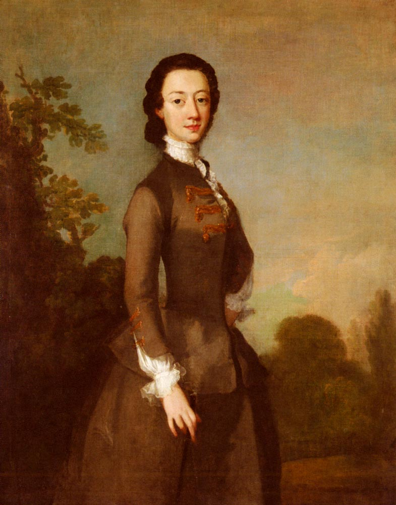 Portrait Of A Lady, Possibly A Member Of The Foley Family :: Richard Wilson - 4 women's portraits 18th century hall ôîòî