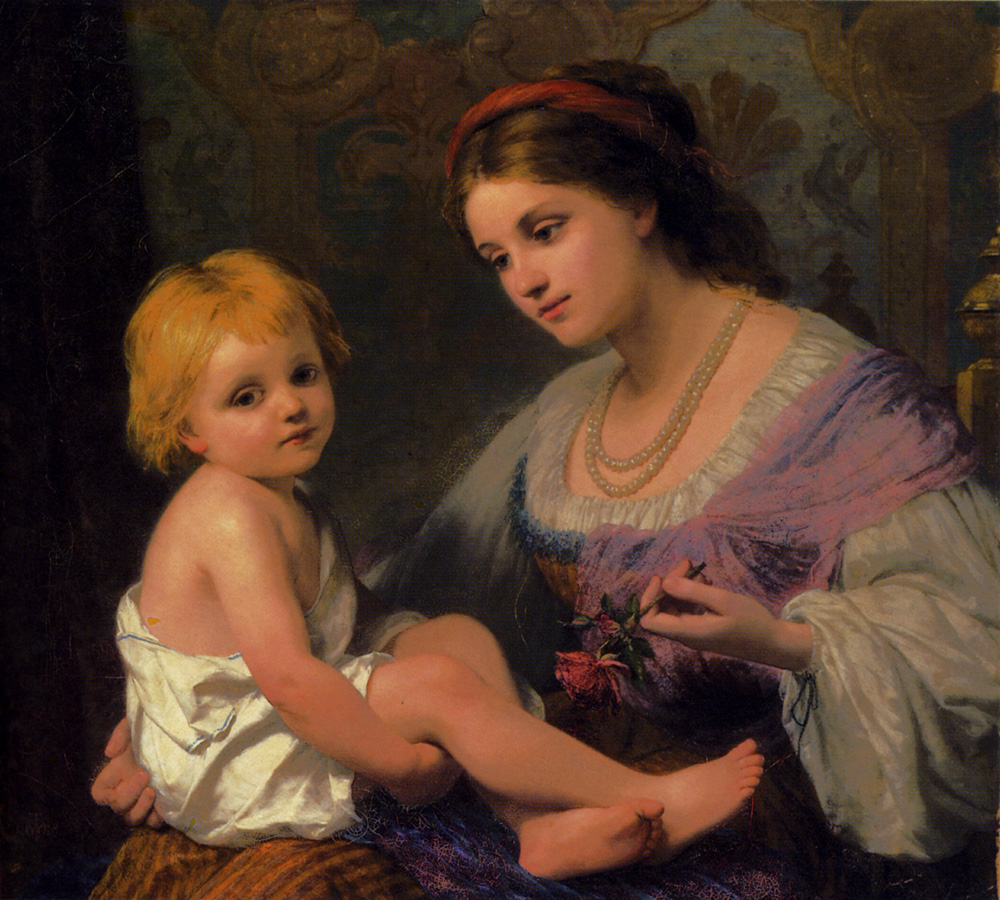 Maternal Affection :: Thomas Webster - Woman and child in painting and art ôîòî