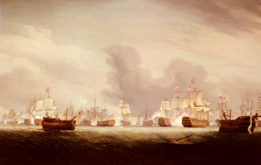 The Battle Of The Glorious 1st Of June 1794 :: Thomas Whitcombe - Sea landscapes with ships ôîòî