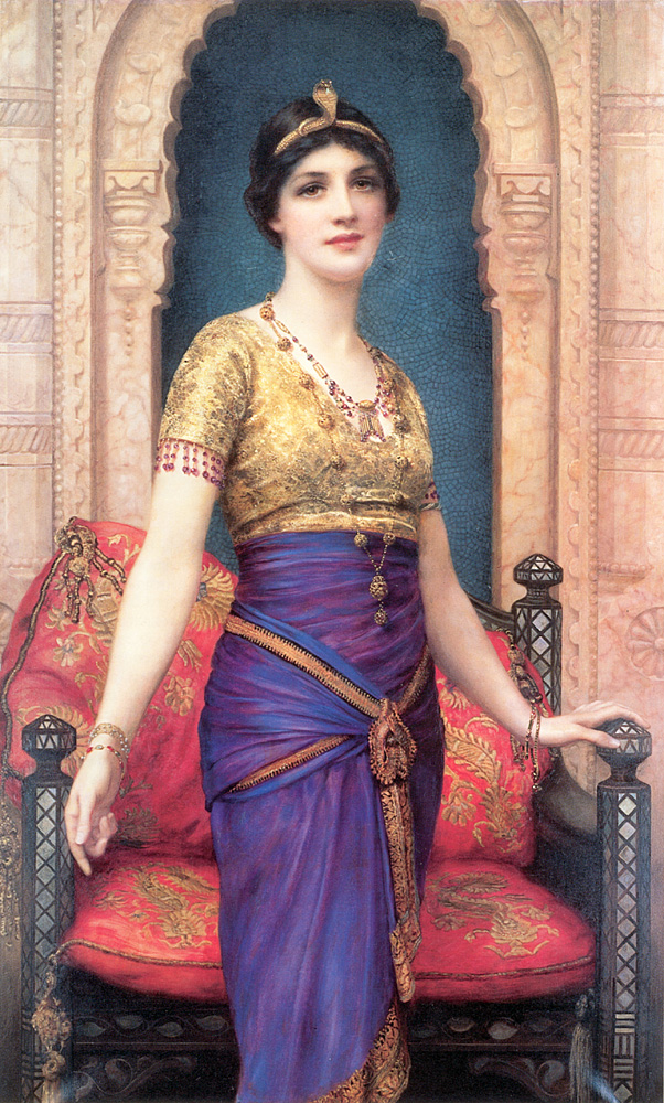 An Egyptian Beauty :: William Clarke Wontner - Antique beauties in art and painting ôîòî