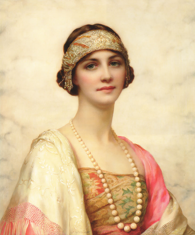 An Elegant Beauty :: William Clarke Wontner - Young beauties portraits in art and painting ôîòî