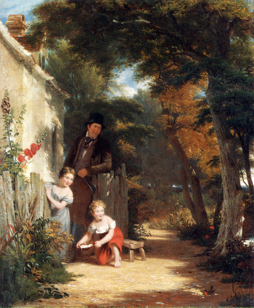 The Robin :: William Frederick Witherington - Street and market genre scenes ôîòî