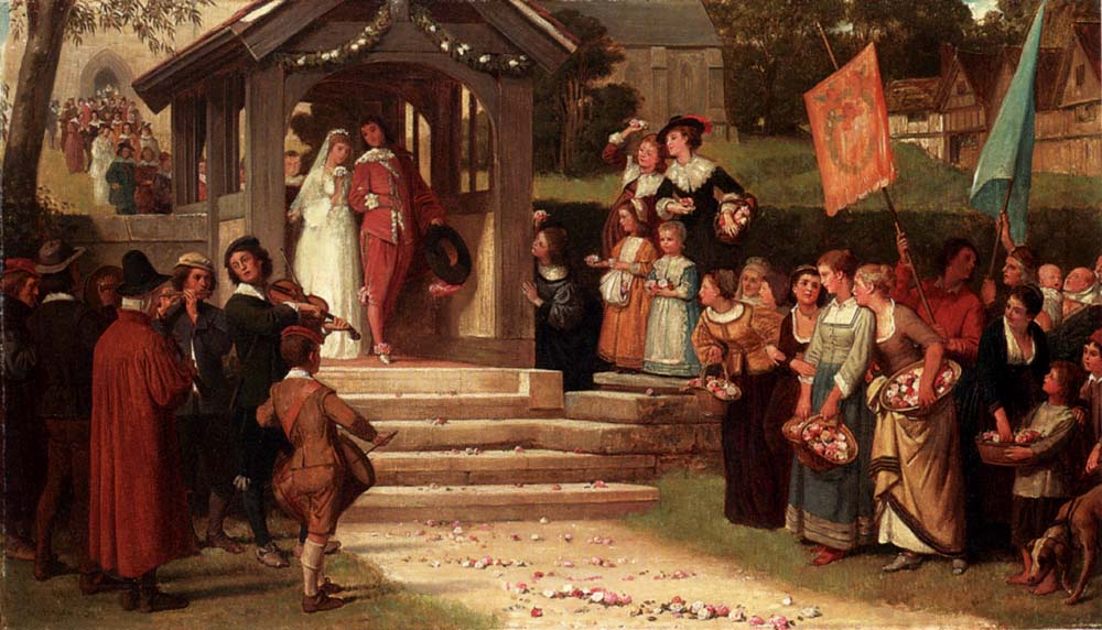 The Path Of Roses :: William Frederick Yeames - Wedding scenes ôîòî