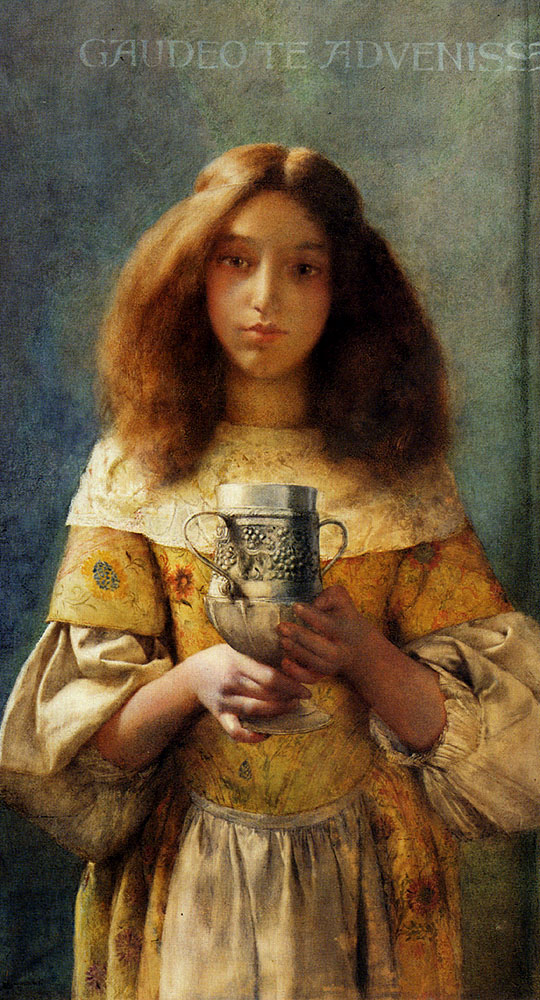 The Grace Cup :: William John Wainwright - Antique beauties in art and painting ôîòî
