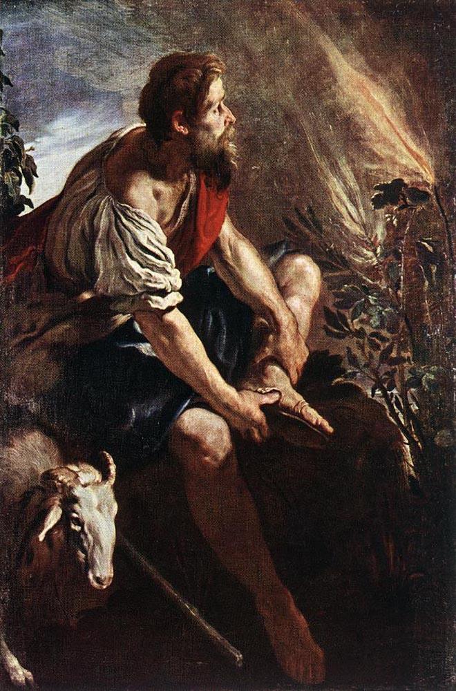 Moses before the Burning Bush :: Domenico Feti - Bible scenes in art and painting ôîòî