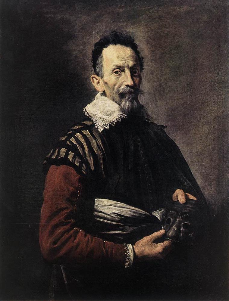 Portrait of an Actor :: Domenico Feti  - men's portraits 17th century ôîòî