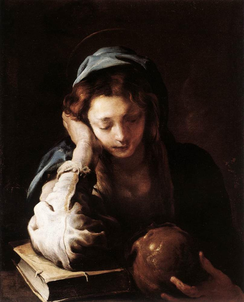 The Repentant St Mary Magdalene :: Domenico Feti - Bible scenes in art and painting ôîòî