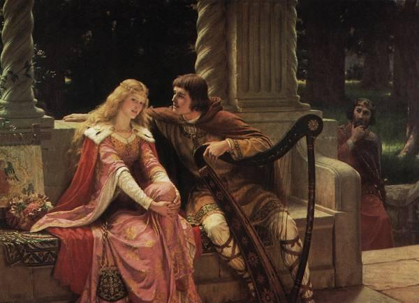 The End of The Song :: Edmund Blair Leighton  - Romantic scenes in art and painting ôîòî