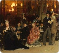 Ilya Repin masterpiece <Paris cafe> - user art painting gallery ôîòî