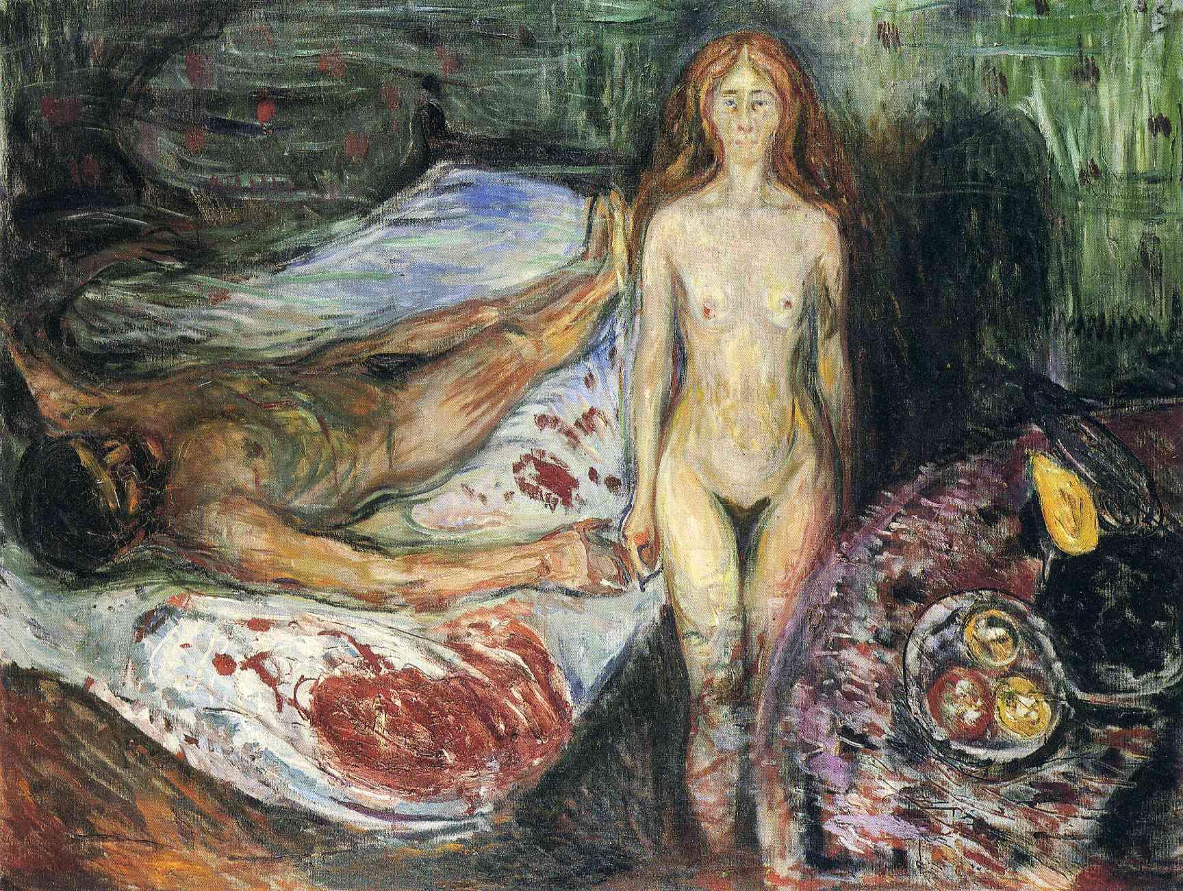 Death of Marat I (1907) :: Munch, Edvard - nude men ôîòî