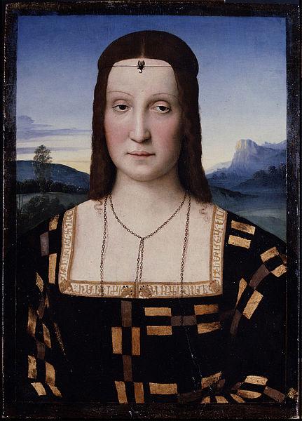 Portrait of Elisabetta Gonzaga - 2 women portraits 16th century hall ôîòî