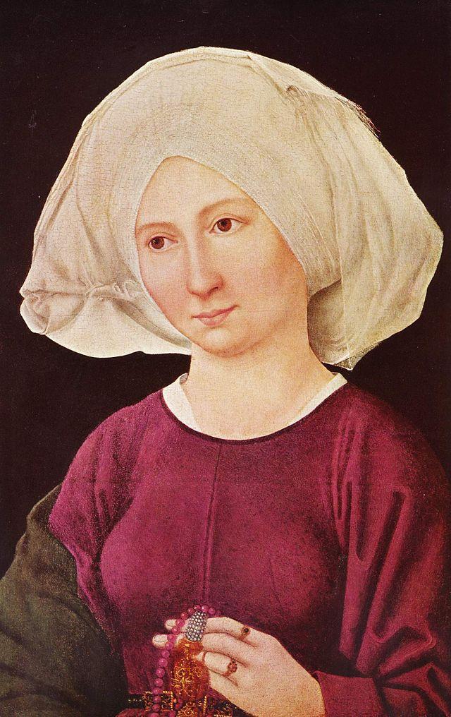 Portrait of the young woman :: Martin Shongauer - 1 women portraits 15th century hall ôîòî