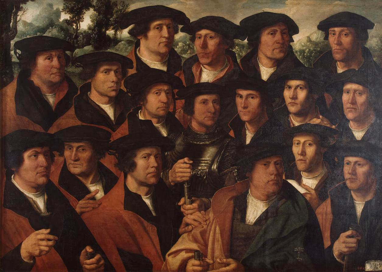 Group Portrait of the Amsterdam Shooting Corporation :: Jacobsz, Dirck - men's portraits 16th century ôîòî