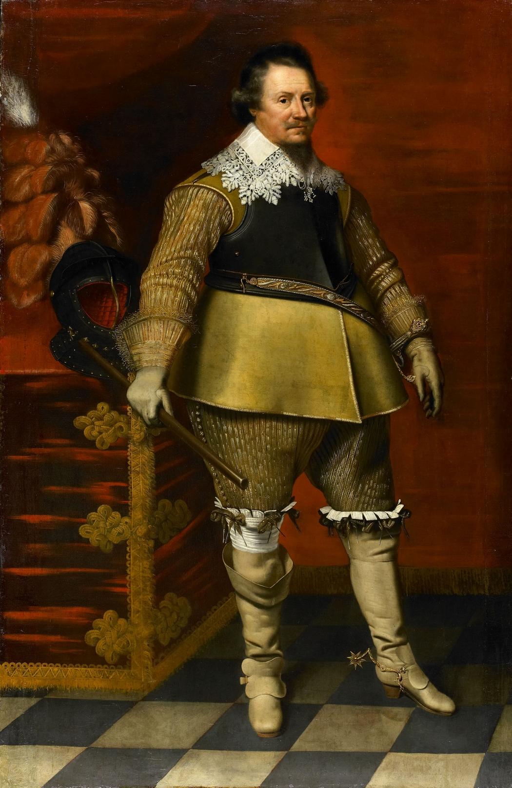 Portrait of Ernst Casimir :: Wybrand de Geest - men's portraits 17th century ôîòî