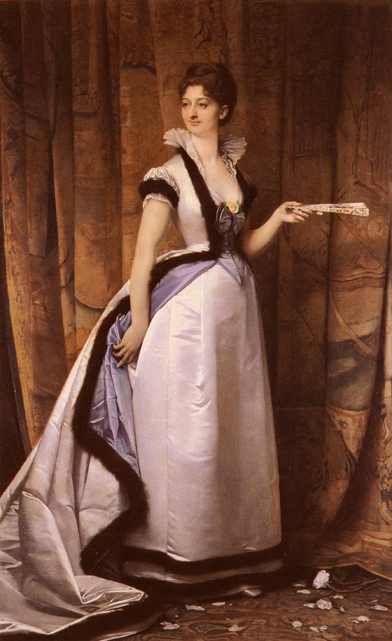 Young woman with a fan :: Jules Joseph Lefebvre - 7 female portraits ( the end of 19 centuries ) in art and painting ôîòî