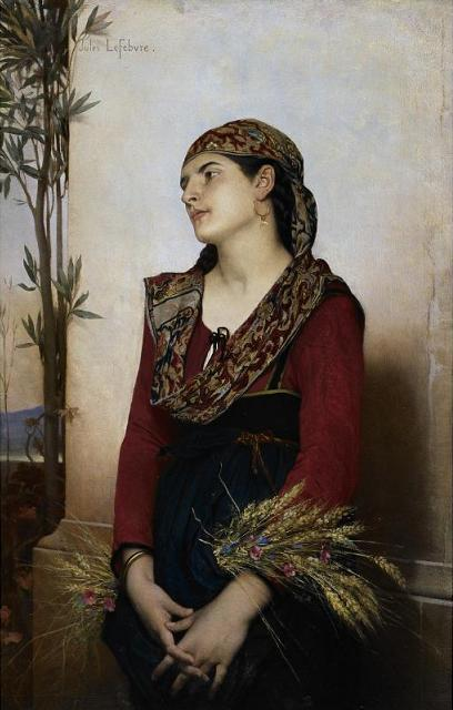 A Mediterranean Beauty :: Jules Joseph Lefebvre - user art painting gallery ôîòî