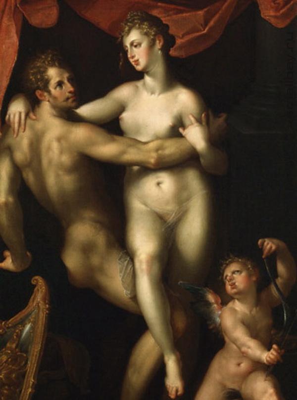Mars, Venus and Cupid :: Spranger Bartholomeus - mythology and poetry ôîòî