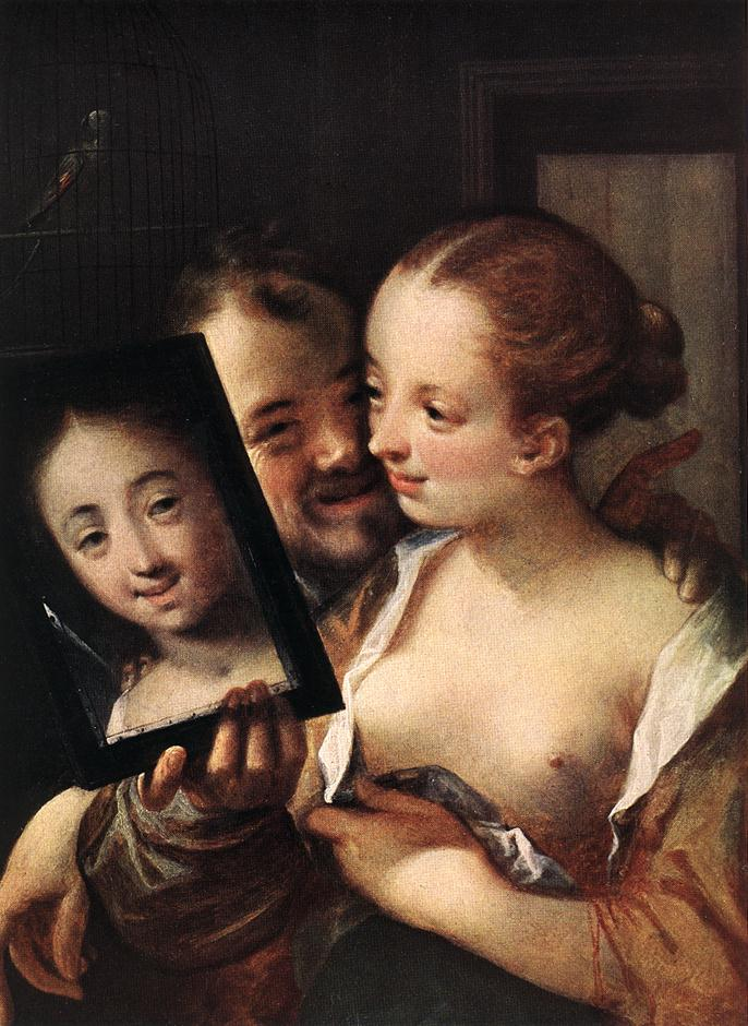Joking Couple :: AACHEN, Hans von - Romantic scenes in art and painting ôîòî